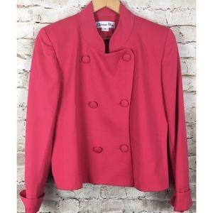*Christian Dior* Pink Button Vintage Blazer 12